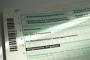 Einkommenssteuererklärung, Steuer